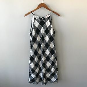 Philosophy NWT Gingham Check Raw Hem Midi Dress